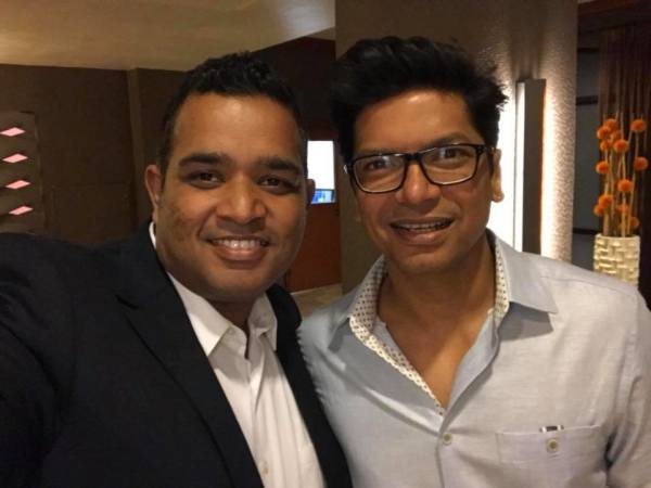 With Bollywood Singer Shaan